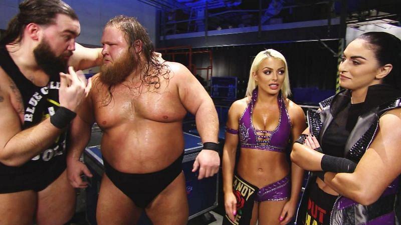 Tucker, Otis, Mandy Rose, and Sonya Deville
