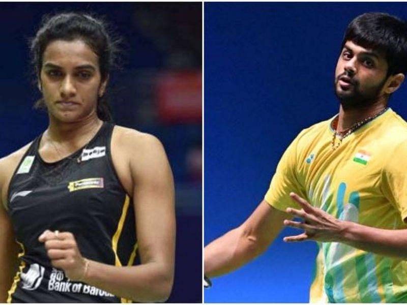 PV Sindhu and B Sai Praneeth
