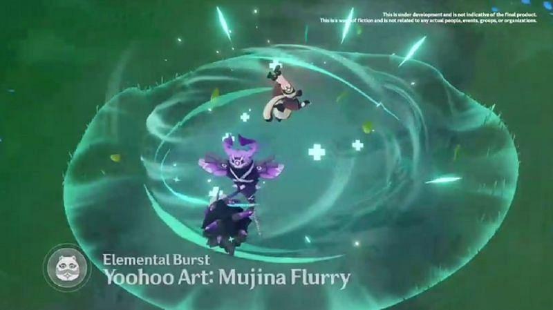 Sayu's Elemental Burst appears to be a healing area (Image via miHoYo)