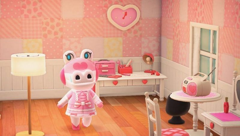 Gayle in her Animal Crossing: New Horizons island home (Image via offcultured)