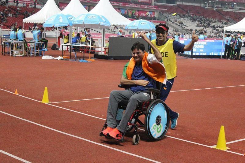 Amit Kumar Saroha qualifies for Paralympics 2020 [Pictire Credits: Amit Kumar Sahora/Twitter]