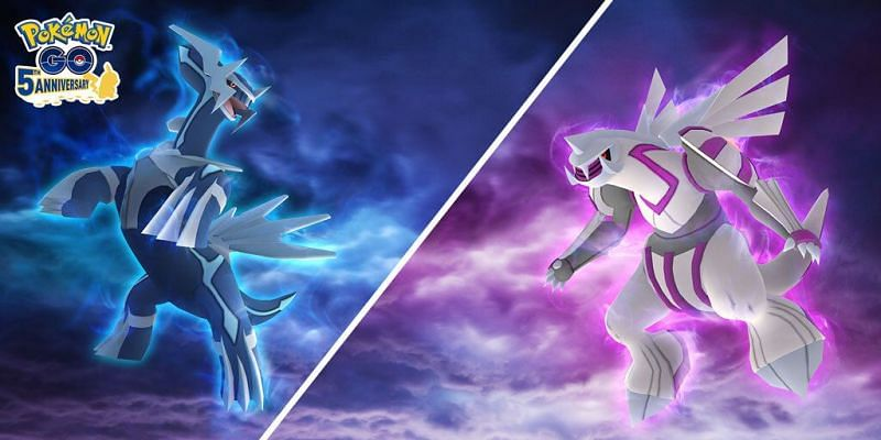 Legendary Pokemon Dialga and Palkia (Image via Niantic)