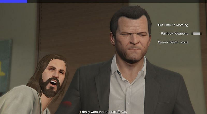 Griefer Jesus is an infamous effect found in this mod (Image via GrandTheftAutoV Reddit)