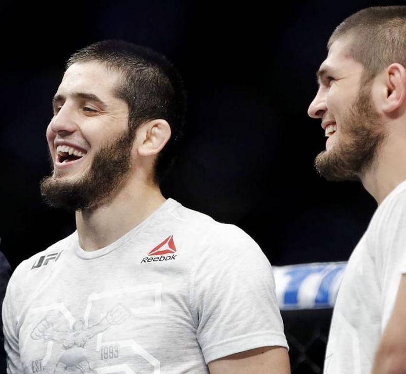 Islam Makhachev (left) & Khabib Nurmagomedov (right) [Image Credits- MMA Fighting]