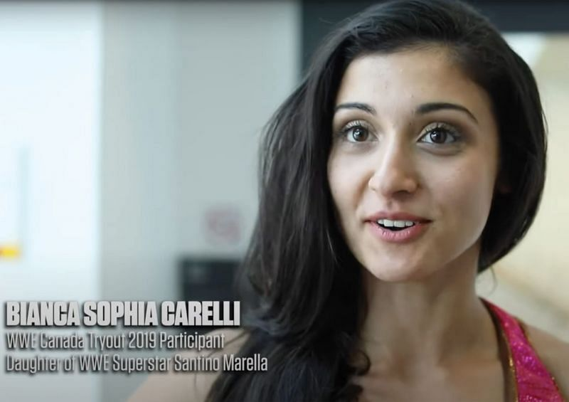 Bianca Carelli's father is supportive of her pro wrestling dream