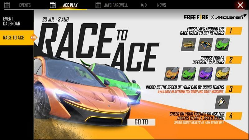 Tap the 'Go To' button (Image via Free Fire)