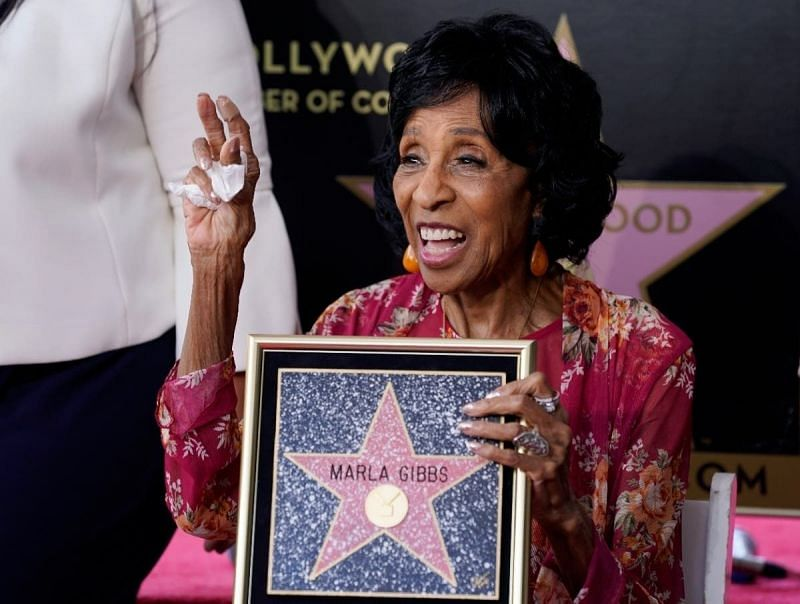 Marla Gibbs, who passed out at the Hollywood Walk of Fame. (Image via Patch)