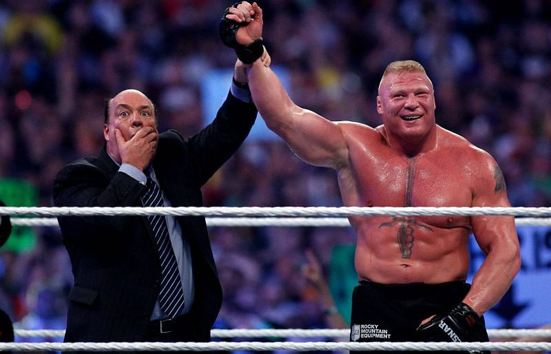 Brock Lesnar and Paul Heyman in WWE