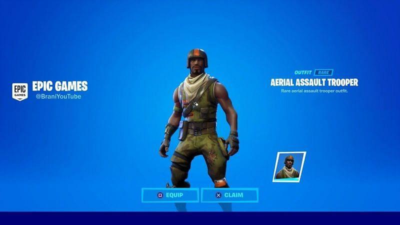 Aerial Assault Raider skin in Fortnite