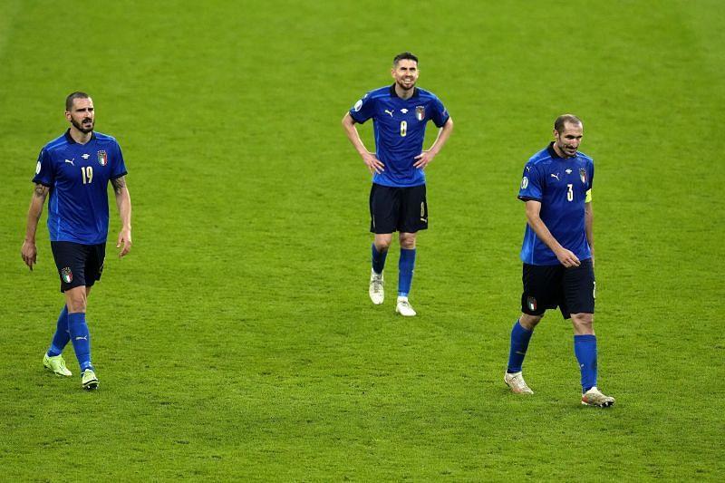 Giorgio Chiellini (R) and Leonardo Bonucci (L) were solid at the back for Euro 2020 winners Italy