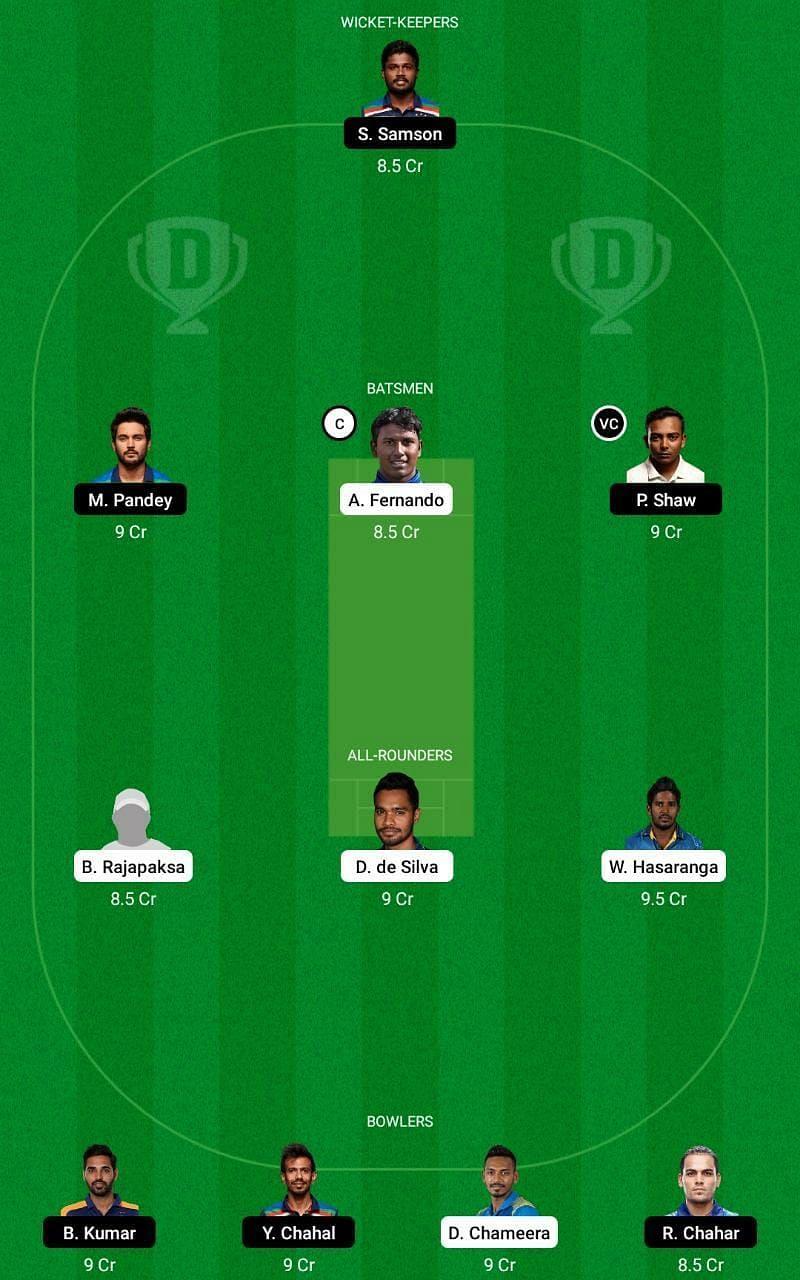 SL vs IND 3rd ODI Dream11