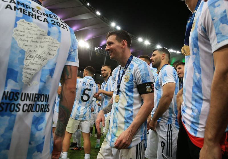 Messi is now the Copa America's joint-most appearance maker, along with Chile's Sergio Livingstone.