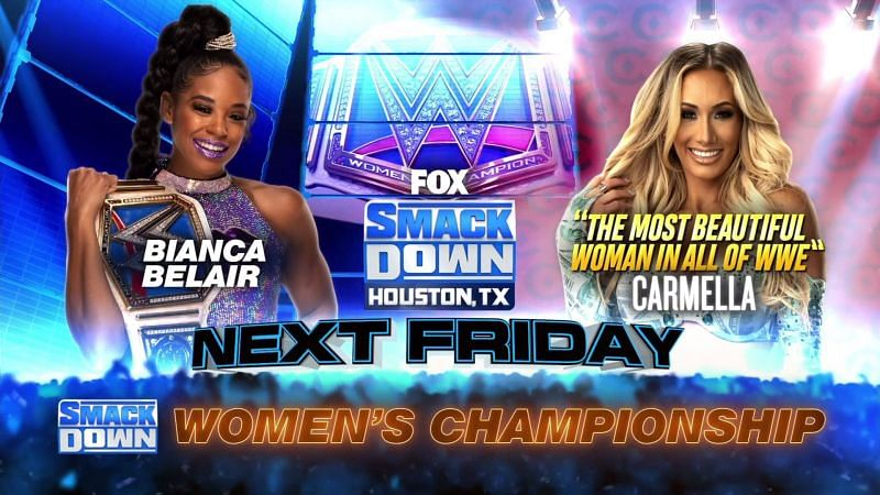 Belair defends her title against Carmella next Friday before Money in the Bank.
