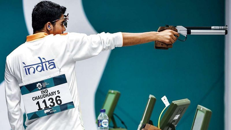 Saurabh Chaudhary will be a favorite to win a medal in the 10m air pistol event