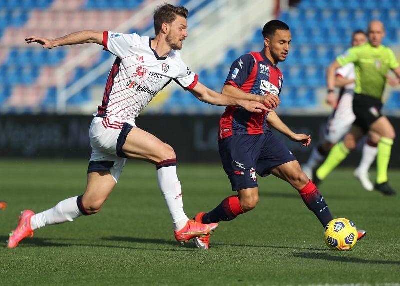 Rugani in action for Cagliari