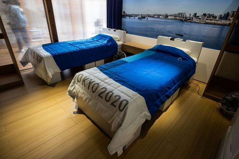 A room at the Tokyo Olympic Village