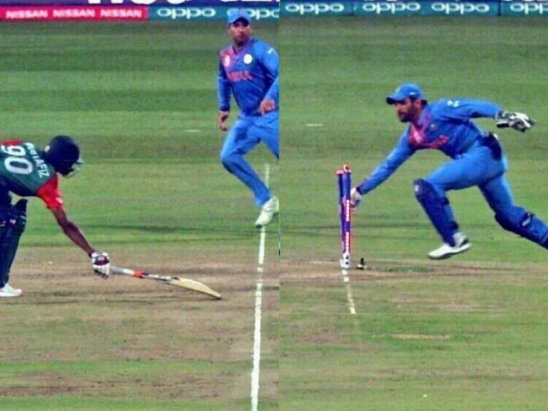 धोनी ने मैच की आखिरी गेंद पर जबरदस्त चतुराई दिखाई थी