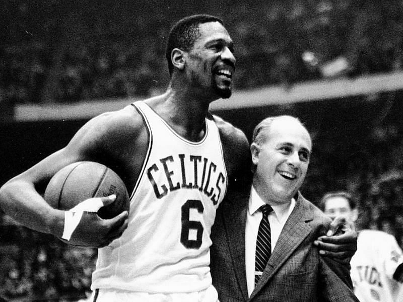 Bill Russell (left) and Red Auerbach