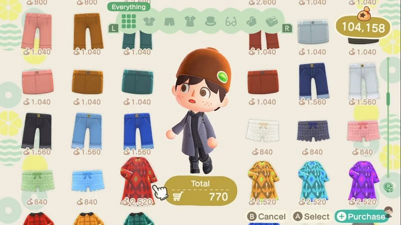 The Able Sisters store needs a cart from where the players can purchase all the clothes they like in one go (Image via Crossing channel)