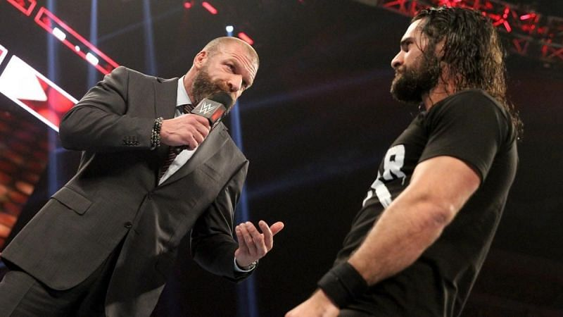 Triple H and Seth Rollins on Monday Night RAW