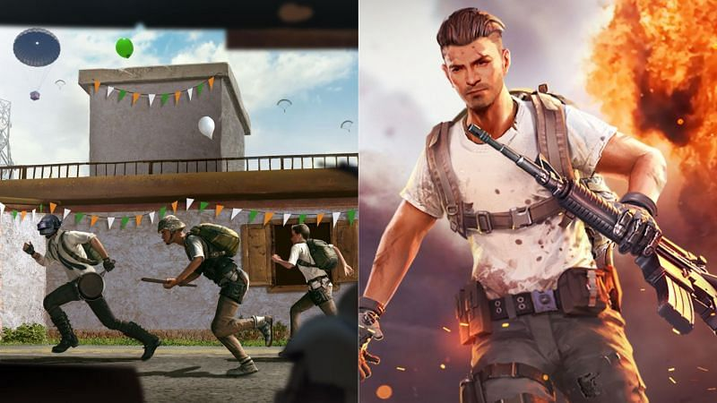On low-end devices, Free Fire is a better option (Images via BGMI and Free Fire)