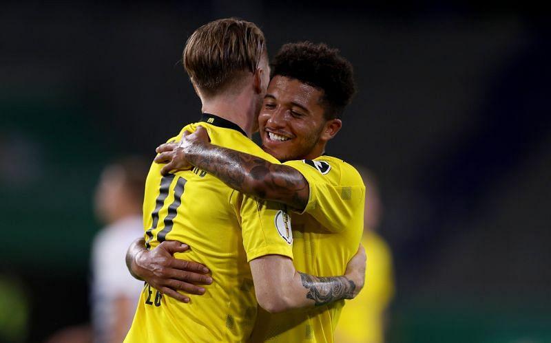 Jadon Sancho made a big impression at Borussia Dortmund