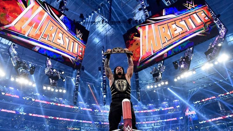 Roman Reigns after defeating Triple H at WrestleMania 32