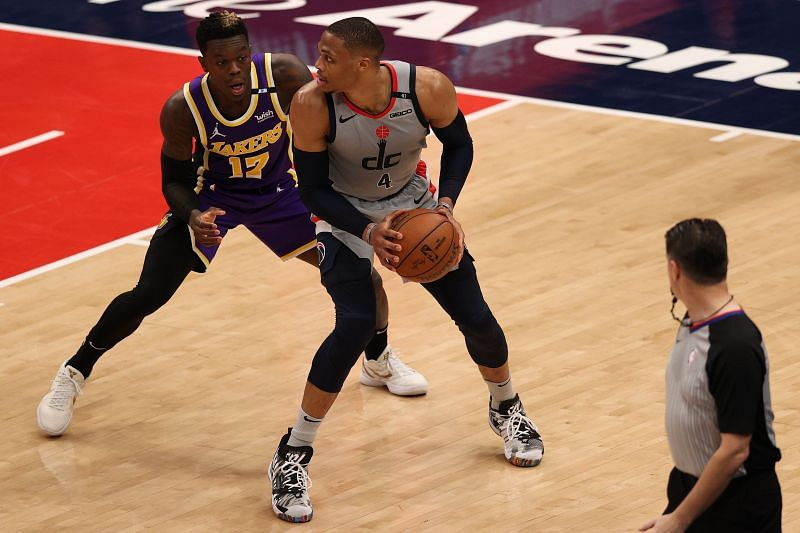 Russell Westbrook in action against the Lakers.