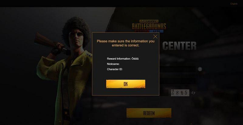 Os jogadores precisam verificar os detalhes e clicar em OK.