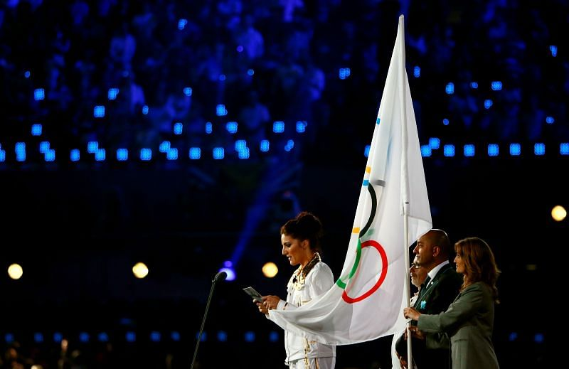 Oath taking ceremony at the 2012 Olympic Games Opening Ceremony in London