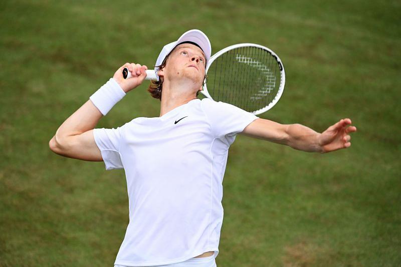 Jannik Sinner at Wimbledon