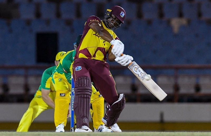 Evin Lewis was in fine form against Australia.