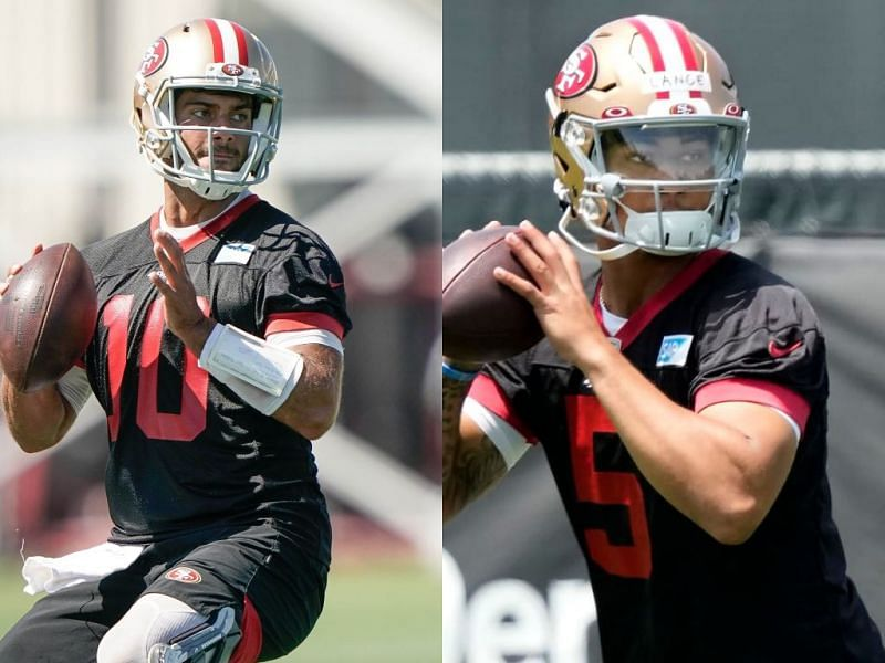 San Francisco 49ers QB's Jimmy Garoppolo and Trey Lance