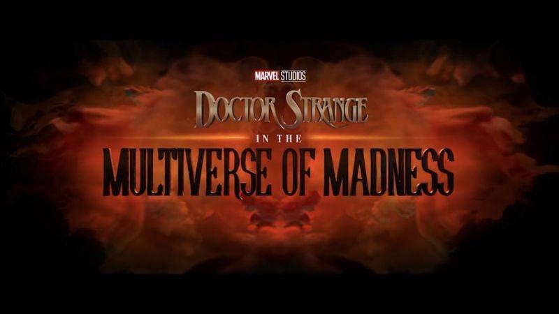 Doctor Strange: Multiverse of Madness title poster (Image via Marvel Studios)
