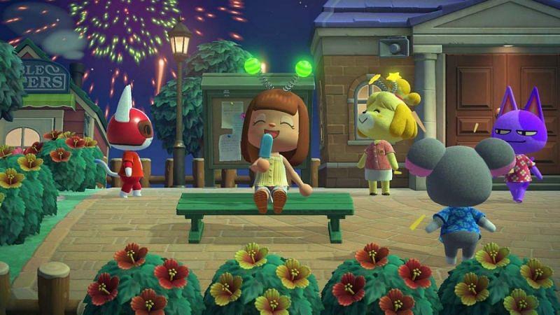Evento de Chuseok en Animal Crossing (Imagen a través de Vooks)