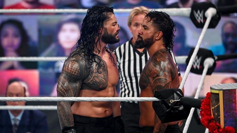 Roman Reigns forced and persuaded Jey Uso to acknowledge him.