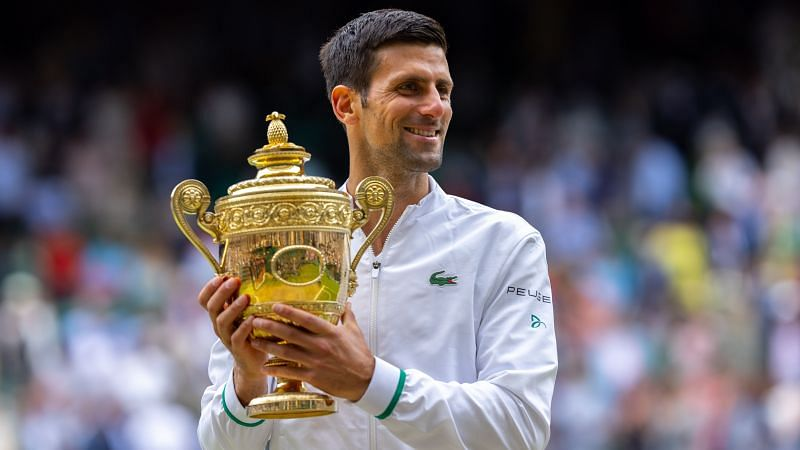 Novak Djokovic at Wimbledon 2021