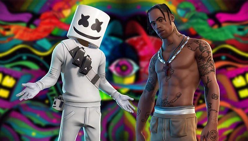 Players have seen figures like Marshmello and Travis Scott perform on Fortnite (Image via Sportskeeda)