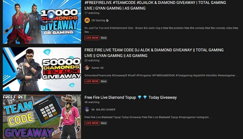 Giveaways are regularly held