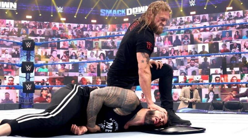 Edge and Roman Reigns on Friday Night SmackDown
