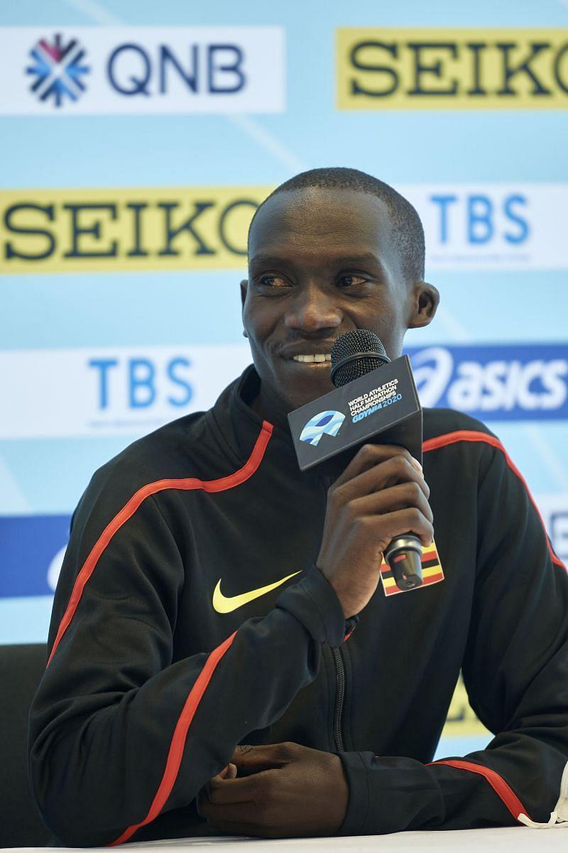 Joshua Cheptegei at the World Athletics Half Marathon Championships, 2020