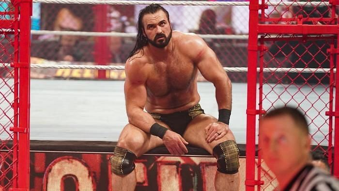 Drew McIntyre after losing his last WWE title opportunity at Hell in a Cell 2021