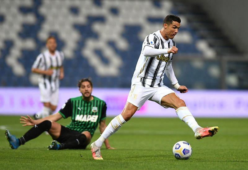 Cristiano Ronaldo in action for Juventus