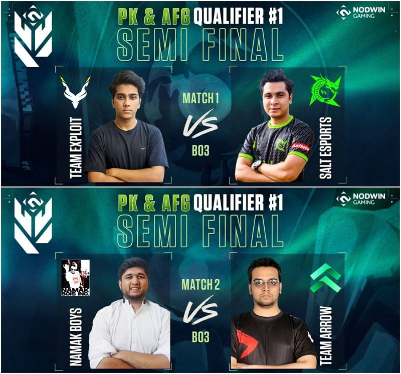 Valorant Conquerors Championship Pakistan & Afghanistan Qualifier 1 Semi-Final Results (Image via Nodwin Gaming)
