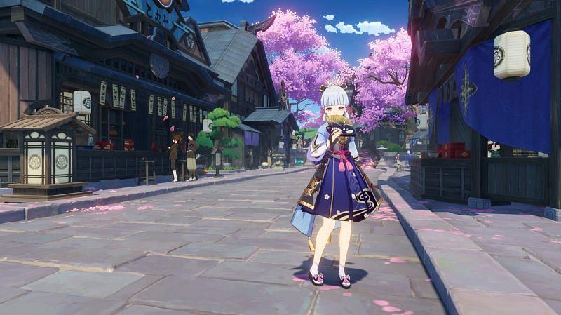 Ayaka will be available in Genshin Impact 2.0 (Image via miHoYo)