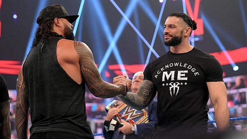 Jimmy Uso and Roman Reigns