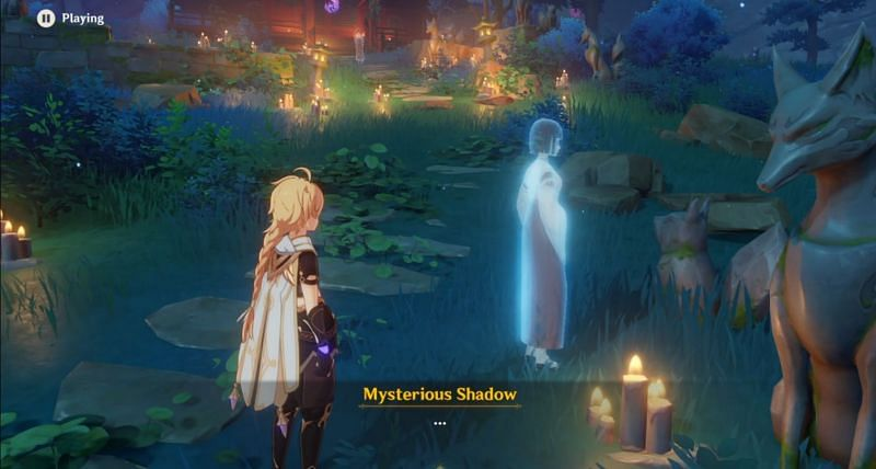 Mysterious shadows around the quest area in Genshin Impact (Image via Genshin Impact)