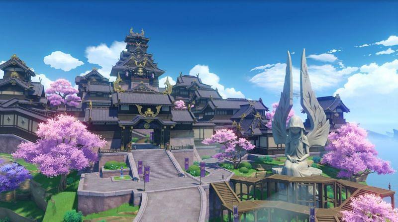 Players can finally enter Inazuma in Genshin Impact 2.0 (Image via Genshin Impact )
