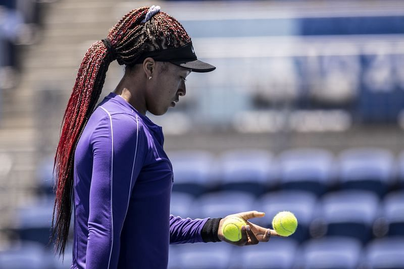 Naomi Osaka during a practice session ahead of the Tokyo Olympics