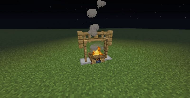 Minecraft campfire. Image via Reddit